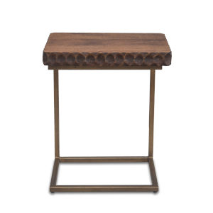 Vallarta Two Tone and Bronze Mango Wood Side Table