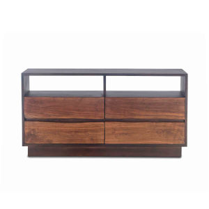 Palermo Raw Walnut And Ebony Dresser