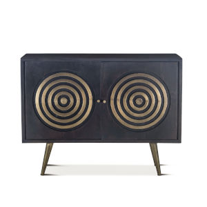 Nubian Ebony And Antique Brass Sideboard