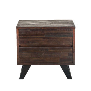 Bruges Dark Brown and Antique Zinc Night Chest