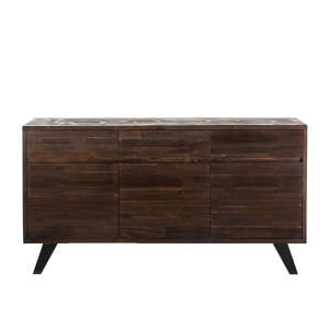 Bruges Dark Brown and Antique Zinc Sideboard