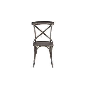 Set of Two Reclaimed Antique Nickel Dining Chairs