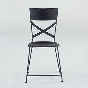 Reclaimed Antique Black Side Chair
