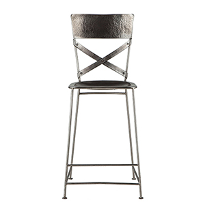 Reclaimed Antique Nickel Counter-Height Stool