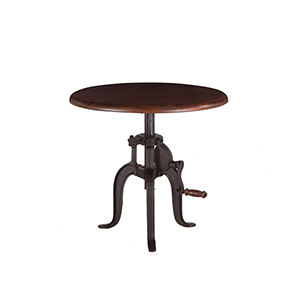 Acacia Small Adjustable Crank Side Table