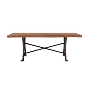 Raw Walnut Acacia Wood Dining Table