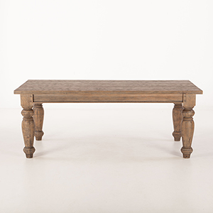 Weathered Teak Rectangle 88 Dining Table