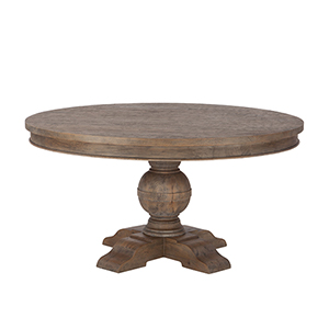 Weathered Teak Round 54 Dining Table