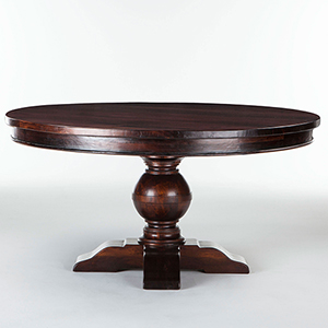 Mango Wood Round 60 Dining Table in Chestnut