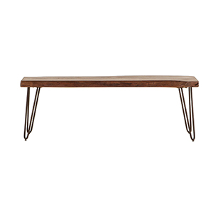 Walnut Acacia Wood Dining Bench