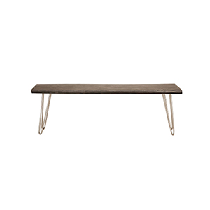 Acacia Live Edge Rectangle Coffee Table in Weathered Grey