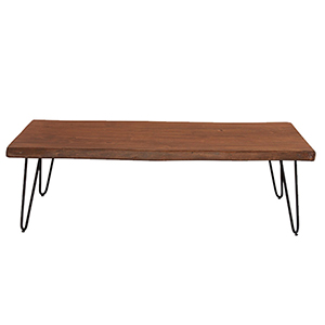 Acacia Live Edge Rectangle Coffee Table in Walnut