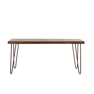 Walnut Finish Acacia Wood Dining Table