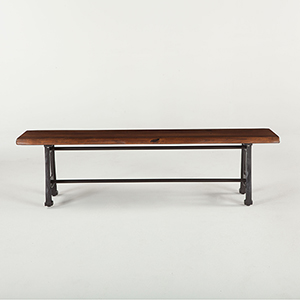 Acacia Wood and Iron Dining Bench