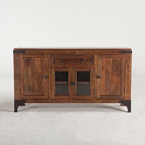 Acacia Wood and Iron Sideboard