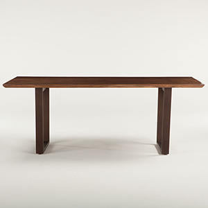 Acacia Wood and Iron Rectangular Dining Table