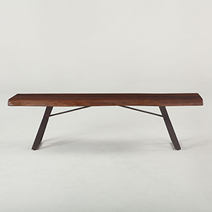 Acacia Wood 72 Inch Dining Bench in Walnut