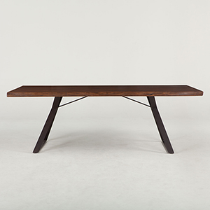 Acacia Wood 80 Inch Rectangular Dining Table in Walnut