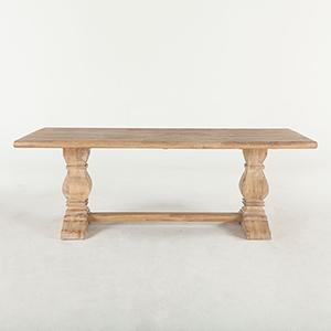 Mango Wood Rectangular Dining Table in Antique Oak