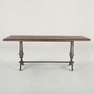 Reclaimed Weathered Grey Teak 76 Inch Rectangular Dining Table