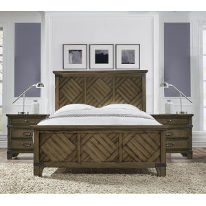 Bridgeport Vintage Brown Queen Bed