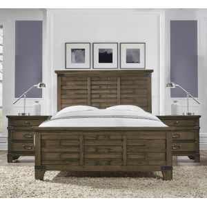 Maryland Vintage Brown Queen Bed