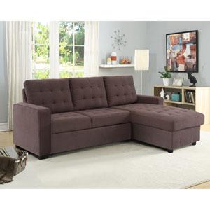 Blair Espresso Convertible Sectional Sofa