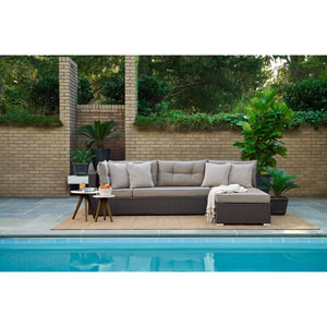 Relax A Lounger Pacifica Outdoor Convertible Sofa in Brown