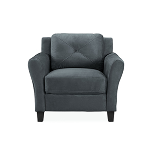 Harvard Dark Grey Polyester Chair