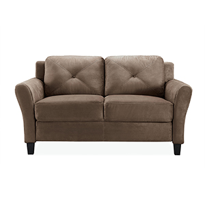 Harvard Brown Polyester Loveseat