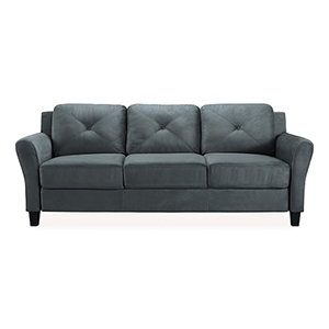 Harvard Dark Grey Polyester Sofa