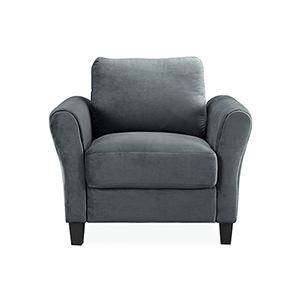Wilshire Dark Grey Polyester Chair