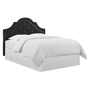 Hailey King Black Polyester Headboard