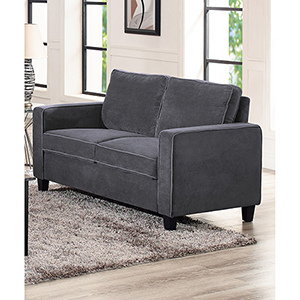 Garren Dark Grey Loveseat