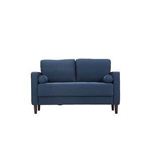 Lillith Navy Loveseat