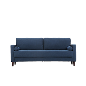 Lillith Navy Polyester Sofa