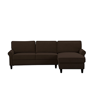 Morgan Chocolate Polyester Sectional