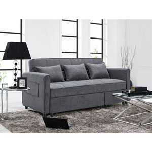 Relax A Lounger Sorenson Convertible Sofa in Grey