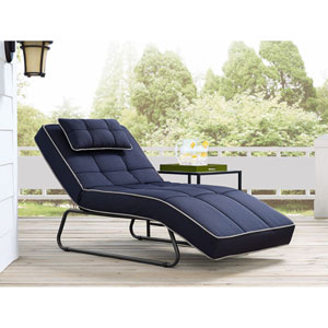 Relax A Lounger Waikiki Outdoor Convertible Chaise in Navy