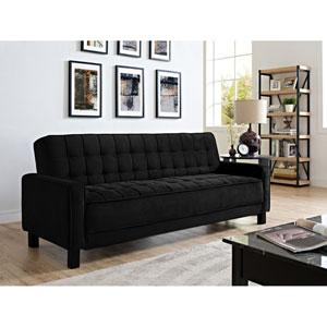 Madison Black Convertible Sofa Bed