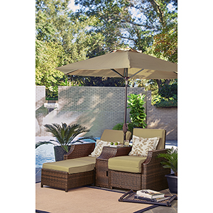 Relax A Lounger Santa Cruz Outdoor Convertible Set
