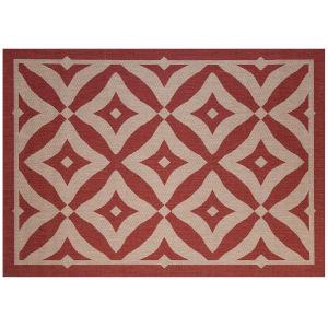 Charleston - Henna Red 5-Feet 3-Inch x 7-Feet 4-Inch Rectangle Outdoor Rug