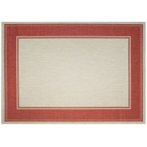 Lodge - Redwood Red 7-Feet 10-Inch x 10-Feet Rectangle Outdoor Rug