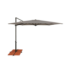 Skye Cast Silver and Black Cantilever Umbrella