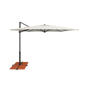 Skye Natural and Black Cantilever Umbrella