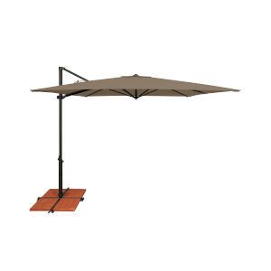 Skye Taupe and Black Cantilever Umbrella