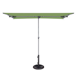 Capri Lime 4.95-Feet x 6.93-Feet Rectangle Balcony Umbrella