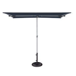 Capri Navy 4.95-Feet x 6.93-Feet Rectangle Balcony Umbrella