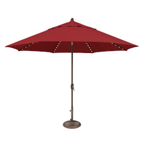 Lanai Pro Really Red Octagon Auto Tilt Market Umbrella