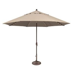 Lanai Pro Beige Octagon Auto Tilt Market Umbrella